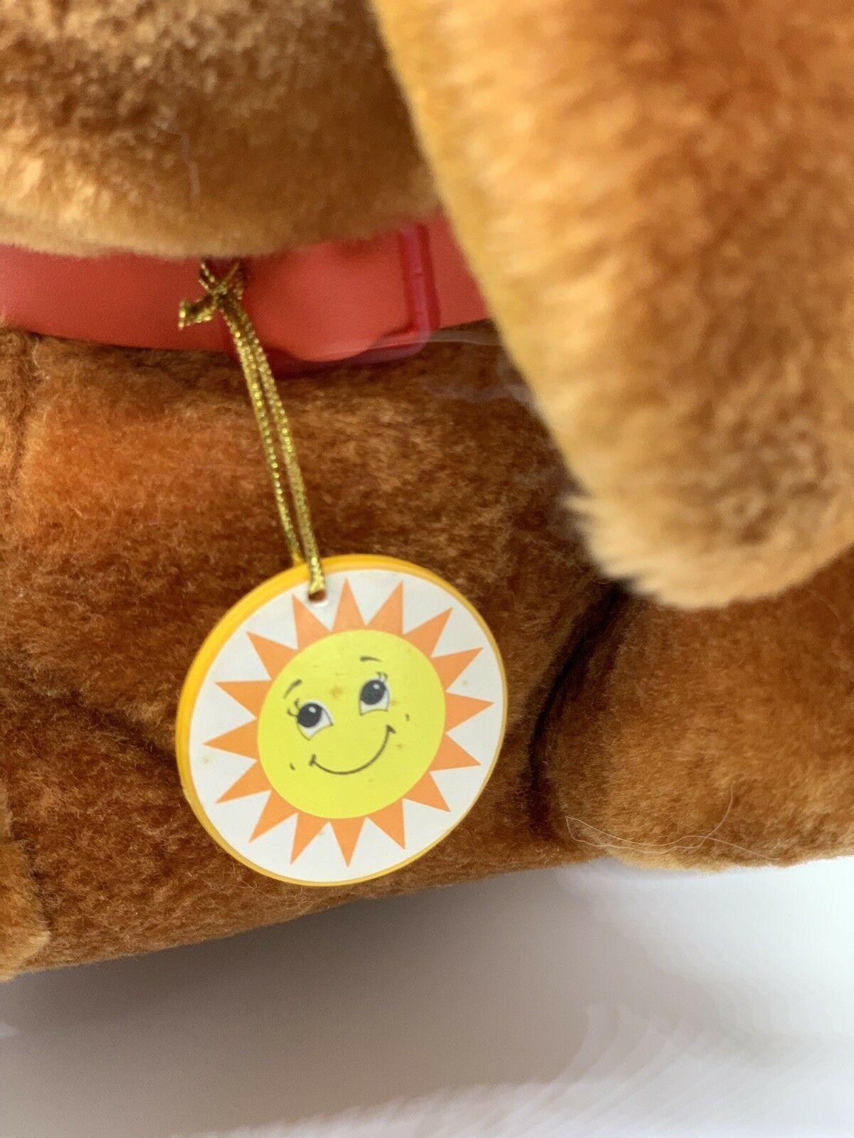 "Sunburst Pets 1983 Vintage Plush Brown Dog Commonwealth Vtg Stuffed Animal 13"" image 6"