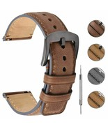 Burnished Leather Watch Band 18mm 20mm 22mm Vintage Quick Release Wrist ... - $23.77+
