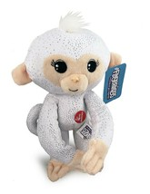 Plush Baby Monkey 10 in w/ Sound Bendable Arms & Legs White Glitter - $14.35