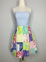 Lilly Pulitzer Womens Sz 2 Dress Seersucker Patchwork Multicolor Sleevel... - $26.10