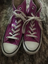 CONVERSE All Star Purple High Top Shoes Women's Size 8 Pre-Owned image 2