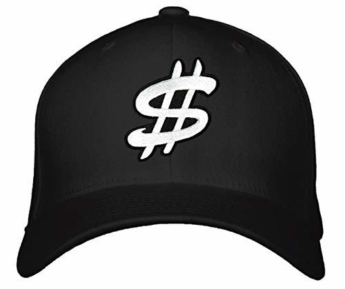 Dollar Sign Hat - Adjustable Cap Style Color Options (Black)