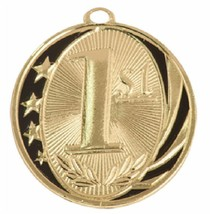 1st Place Gold Medal Award Trophy With Free Lanyard MS713G - $3.99