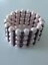 multistrand pearlized beaded stretch bracelet - $19.99