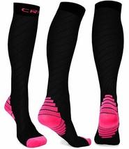 Compression Socks Men Women Stockings , 20-30mmhg Knee High Thick Black ... - $18.38