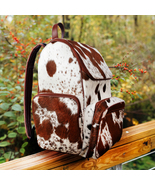 Hair Cowhide Fur Leather Duffle Bag Black White Large Travel Tote Pony H... - $71.25+