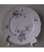 Tressemann & Vogt T&V Violet Plate Purple Flowers Gold Trim Plates 6 AVA... - $19.98