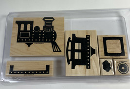 Stampin' Up! Definitely Decorative Choo Choo Stamp Set (6), 2003 Trains ... - $15.88