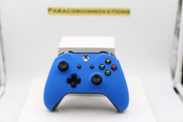 Xbox One/S/X 1708 Controller w/Soft Touch Blue Face Plate & Blue LED-Mod... - $55.43