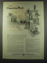 1930 Grinnell Company Ad - The organizing Hand prepares men for your needs - $14.99