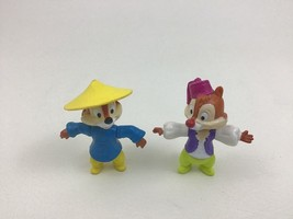 Epcot Chip n Dale Disney Mickey Mouse and Friends Toy Figures Lot 2pc Vi... - $10.84