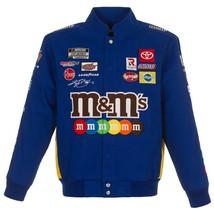 2021  Authentic Kyle Busch JH Design M&M's Snap  Blue Uniform Cotton Jacket  - $159.99