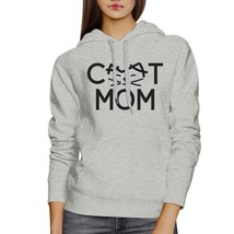 Cat Mom Unisex Grey Cute Design Hoodie Unique Gifts For Cat Lovers - $25.99+
