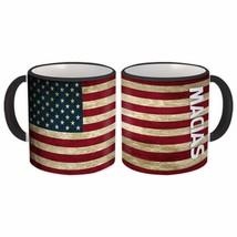 MACIAS Family Name : American Flag Gift Mug Name USA United States Perso... - $13.37+