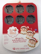 Wilton Elf on The Shelf Christmas 12 Cavities Cookie Pan 2105-8551 Non-S... - $27.93