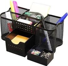 DecoBros Desk Supplies Organizer Caddy Black Drawer Organizers Accessories - $14.94
