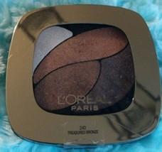 L'oreal Colour Riche Eyeshadow Quad 240 Treasured Bronze New Sealed - $2.50