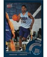 Tito Maddox Topps 02-03 #218 Rookie Card Houston Rockets - $0.50