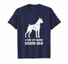 Dad Shirts - Stay At Home Dog Dad - Funny Boxer T-Shirt Men - $19.95+