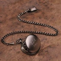 "Personalized Pocket Watch - Gunmetal - 1.5"" Diameter - €34,82 EUR"