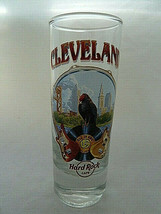 Hard Rock Cafe ® of Cleveland Ohio Tall Shot Glass Guitars bird scenery - $13.85