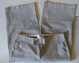 Isaac Mizrahi for Target Cropped Seersucker Capri Pants Womens Pinstripe... - $18.69