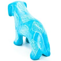 Vaneal Group Hand Crafted Carved Soapstone Light Blue Standing Puppy Dog Figure image 3