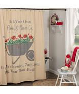 Farmer's Market Wheelbarrow Shower Curtain Vhc Brands  - $72.00