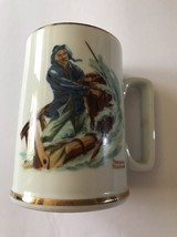 Norman Rockwell Porcelain Tankard Braving the Storm Seafarers Coffee Mug... - $6.92