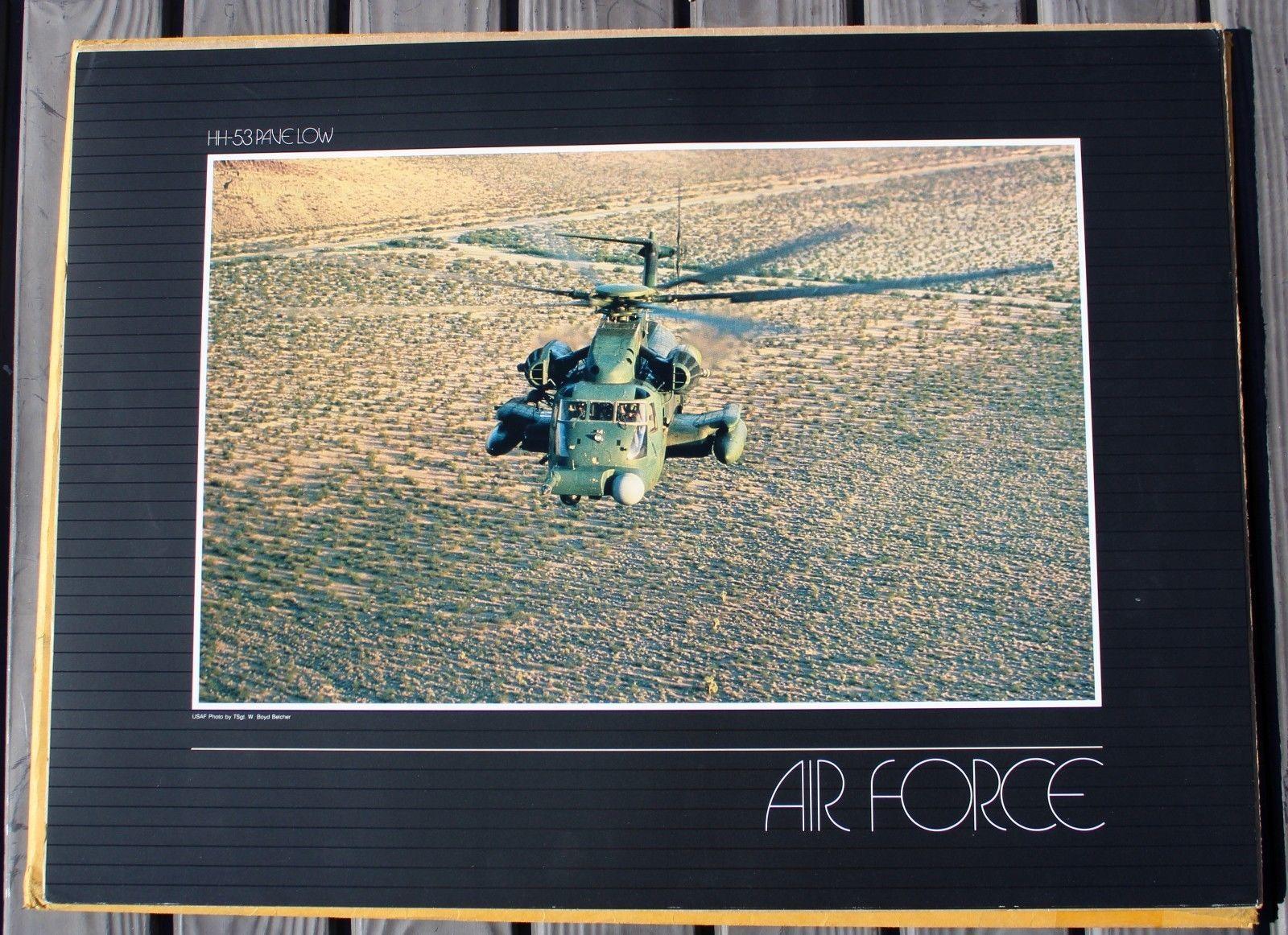 Set of (4) US AIR FORCE Lithograph Series Print SET #36-17 x 23