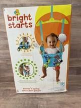 Bright Starts Bounce 'N Spring Deluxe Door Jumper, Blue for Infants Baby Bouncer - $38.70