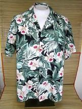 HILO HATTIE men Hawaiian ALOHA shirt pit to pit 27 XL vintage 1980s luau... - $24.49