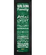"Personalized Black Hills State University ""Family Cheer"" 24 x 8 Framed P... - $39.95"