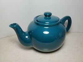 Vintage Teal Ceramic Coffee Pot Kettle - $32.66