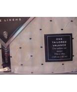 Waterford Fine Linens Vienna Ivory/black Tailored Valance - $34.00