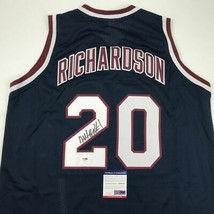 Autographed/Signed MICHAEL RAY RICHARDSON New York Dark Blue Jersey PSA/... - €76,06 EUR