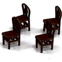 28mm Furniture: Medium Wood Fiddle Back Chair