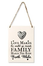 WOODEN HEART WALL QUOTE PLAQUE SIGN LOVE HOME FAMILY INSPIRATIONAL SHABB... - $4.56