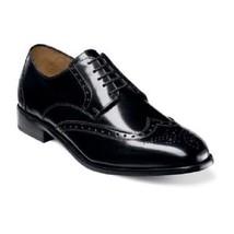 Florsheim Mens shoes  Brookside Wingtip Oxford Black Leather lace up 11231-001 - $105.00