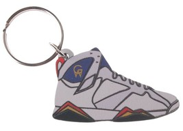 Good Wood NYC Olympic 7 Sneaker Keychain Wht/Red/Blu VII Shoe Key Ring key Fob image 1