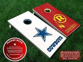 Dallas Cowboys vs Washington Redskins Cornhole Decals | DIY Vinyl Sticke... - $33.99