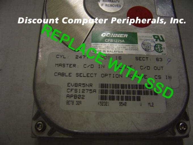 SSD Seagate ST31275A CFS1275A IDE Drive Replace with this SSD 2GB 40PIN IDE Card