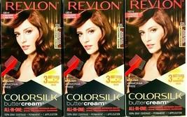 (3) Revlon Colorsilk Butter Cream 535 Medium Golden Mahogany Brown Hair Dye - $28.06