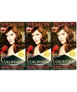 (3) Revlon Colorsilk Butter Cream 535 Medium Golden Mahogany Brown Hair Dye - $26.72