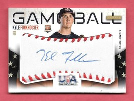 2014 Kyle Funkhouser Panini USA Baseball Game Ball Rookie Auto 96/99 - Tigers - $14.24