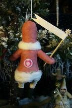 Vintage Inspired Spun Cotton Black Santa Ornament no.79 image 2