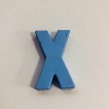 Vintage Fisher Price School Desk Replacement Blue Alphabet Magnet Letter X - $1.73