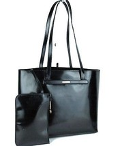 Auth GUCCI Black Patent Leather Tote Shoulder Bag Purse W/ Pouch 000.205... - $187.11