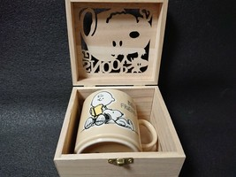 SNOOPY Mug Colorful Peanut Wooden Boxed Best Friends Gift Made in Japan - $44.88