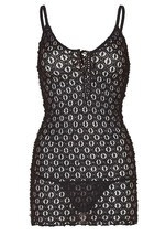 New Leg Avenue Women's Mini Dress with Lace Up Front and G-String One Size 8316 image 2